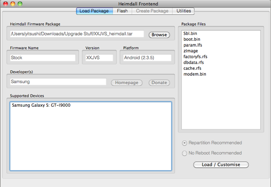 Galaxy S with Android 2 3 5 (+root) with Heimdall - Code-Infection Blog
