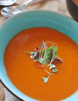 a bowl of our classic creamy tomato soup