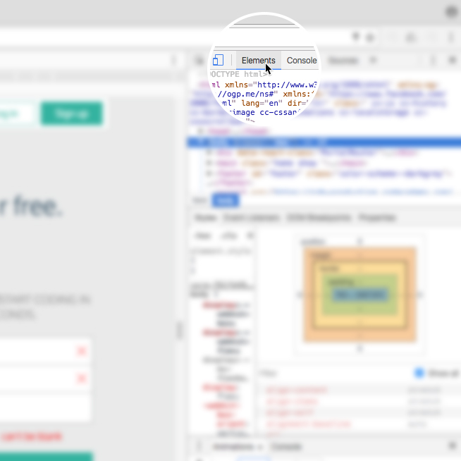 CSS Visual Rules in Chrome Inspector | Codecademy