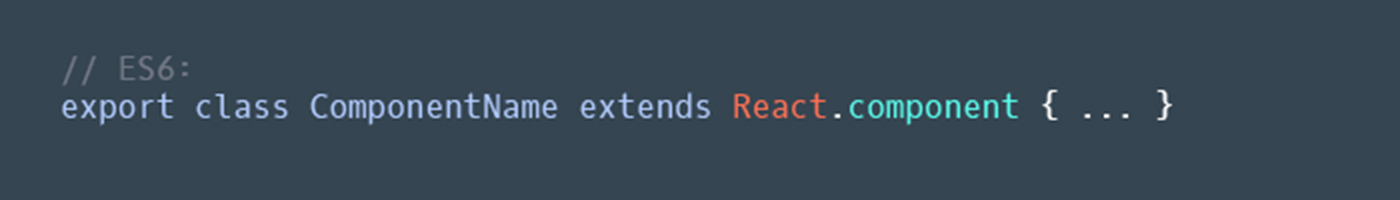 Use `export` to export each component instead of `module.exports`
