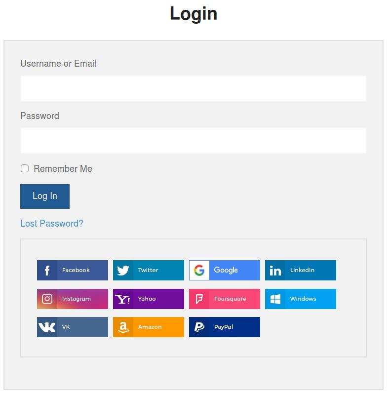 Link Social Accounts to User Accounts