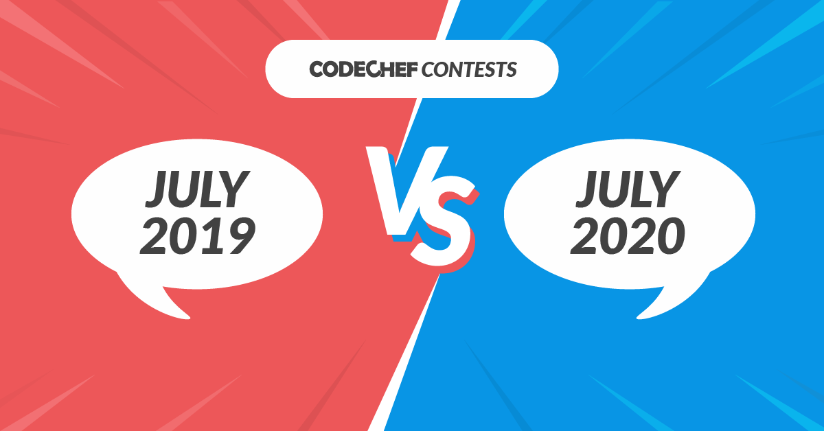 CodeChef Contests July 2019 vs July 2020