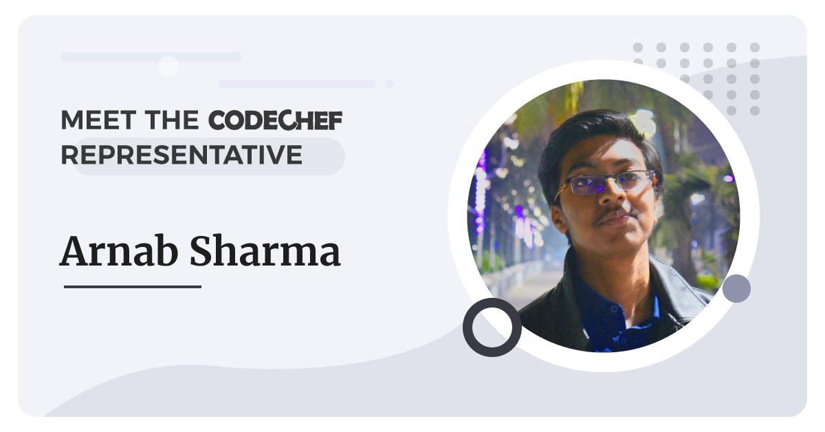 CodeChef Representative - Arnab Sharma