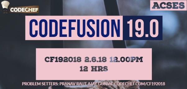 CodeFusion 19 0 | CodeChef