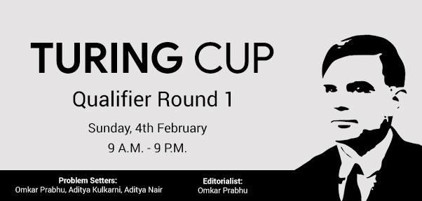 Turing Cup Qualifier 1 | CodeChef