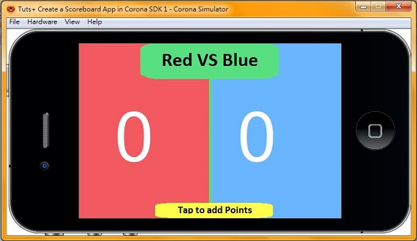 Corona SDK Tutorial: Making a Basic Scoreboard Mobile App in