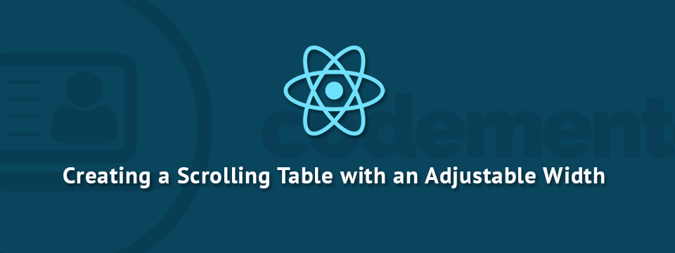 Using React js & RxJS to Create a Scroll Table with a