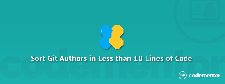 Sorting Git Authors with Less than 10 Lines of Code