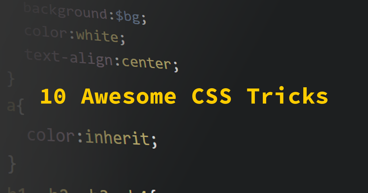 10 Awesome CSS3 Tricks