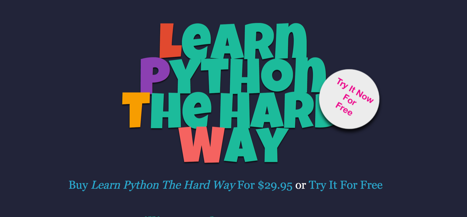 Learn Python The Hard Way(Python3) : learnpython