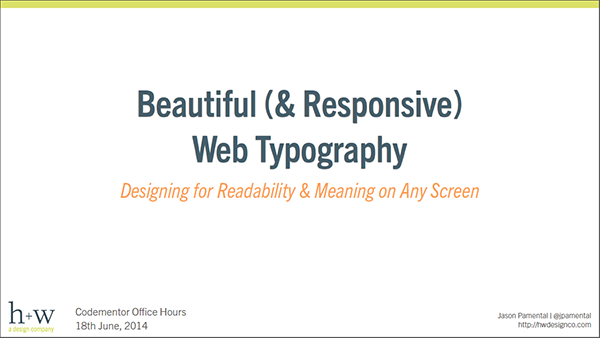 Responsive Web Typography Tutorial