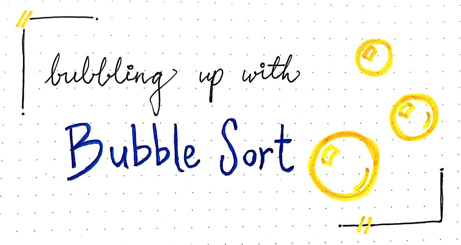 Bubble sort graphic
