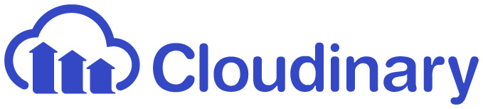 Cloudinary logo blue