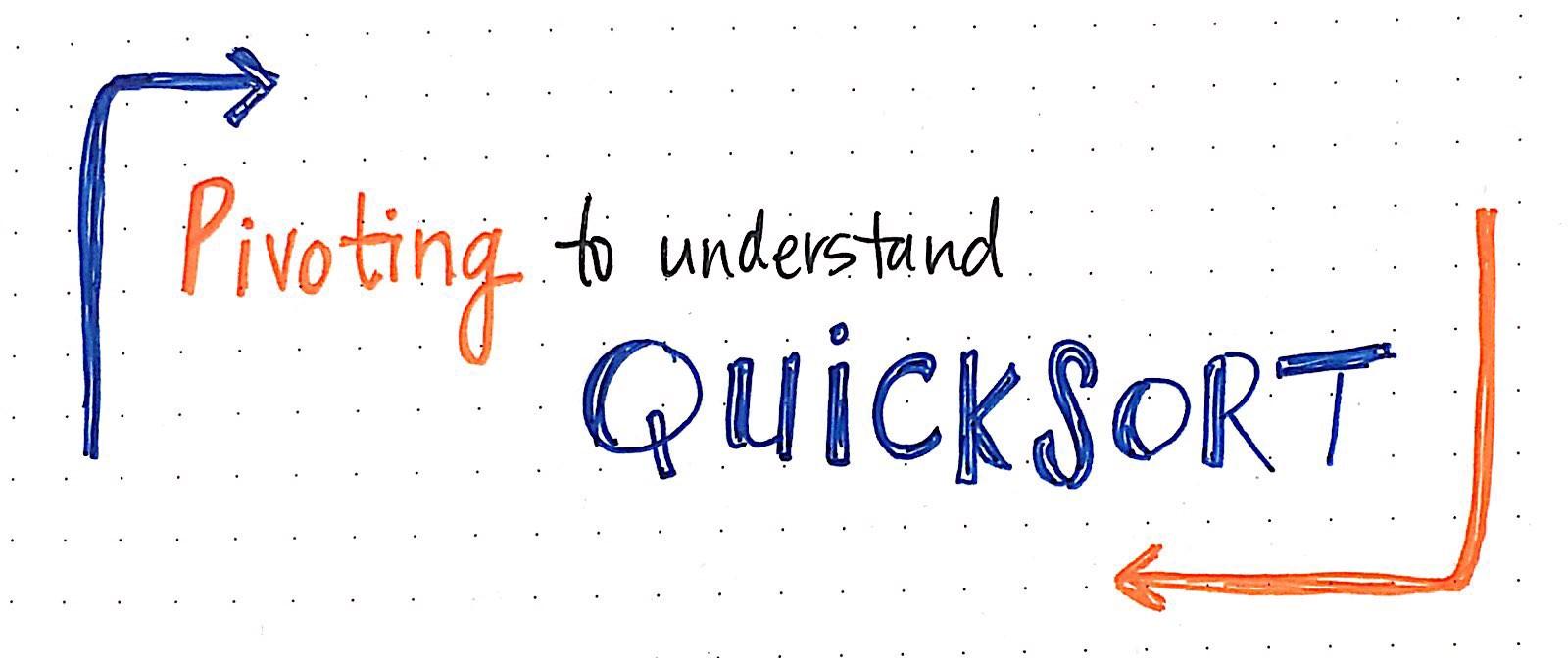 Quick sort blog graphic