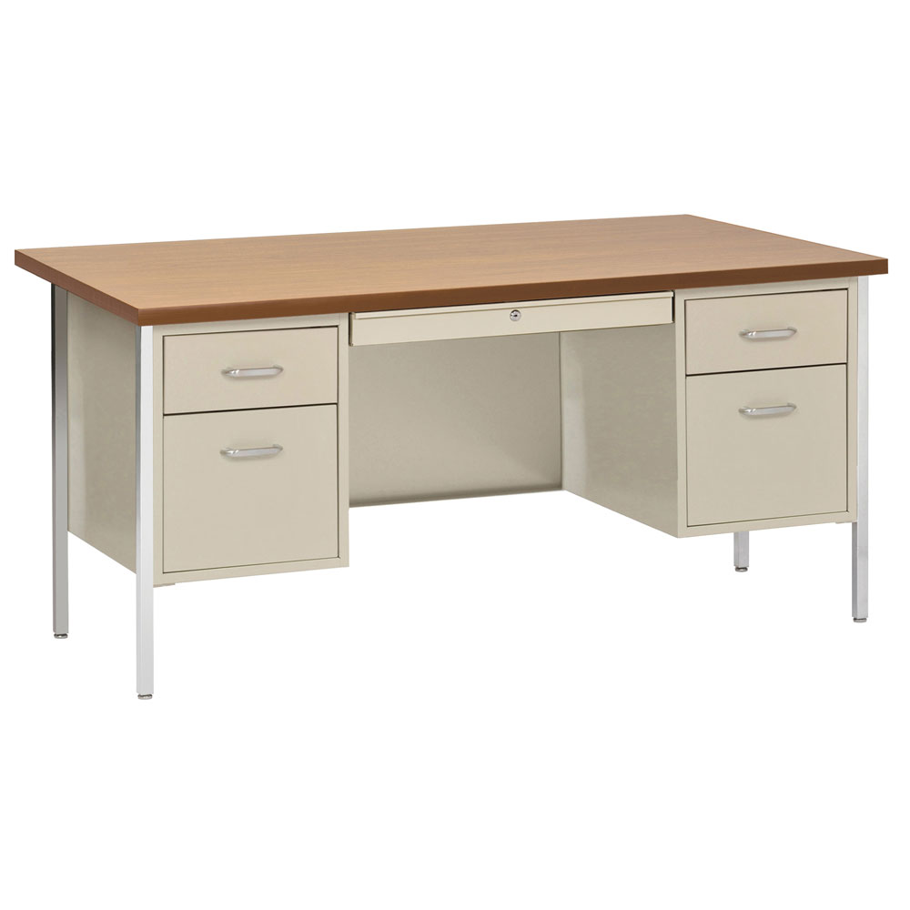 Double Hanging Pedestal Desk