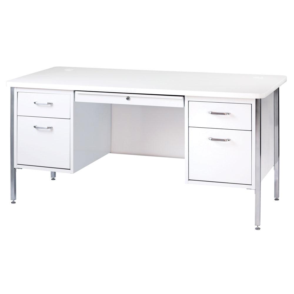 Teacher's Desk – Double Hanging Pedestal