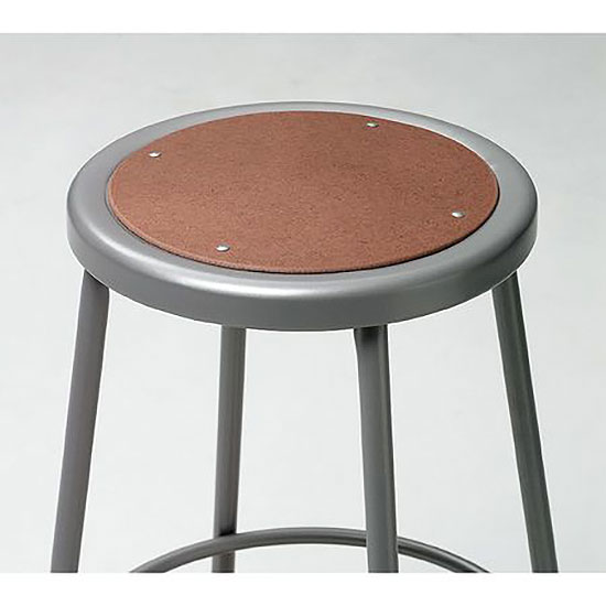 Gray Stool With Round Hardboard Seat Office Furniture Store