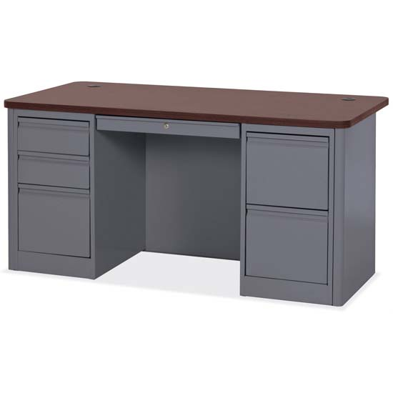 Double Full Pedestal Desk
