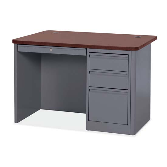 Single Right Full Pedestal Desk