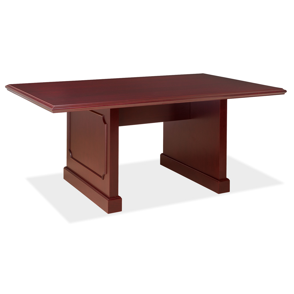 OfficeSource Abbey Conference Tables 6′ Rectangular Table with Panel Base