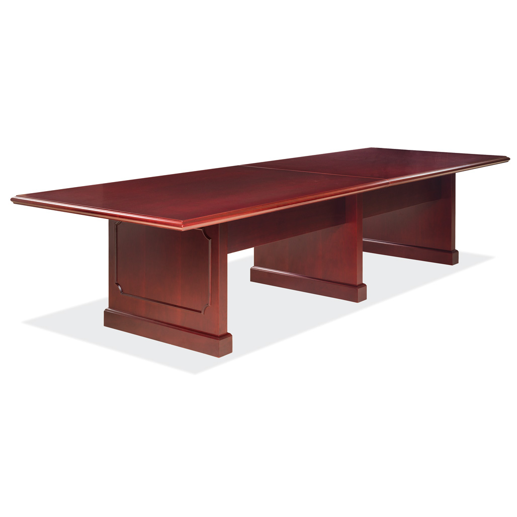 OfficeSource Abbey Conference Tables 10′ Rectangular Table with Panel Base