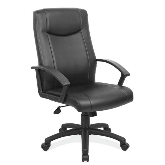 OfficeSource Advantage Collection Executive High Back with Black Frame