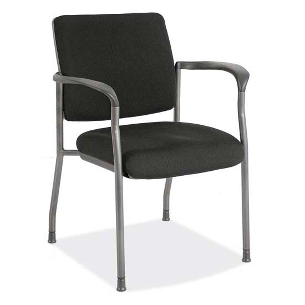 OfficeSource Advanced Collection Guest Chair with Arms and Titanium Gray Frame