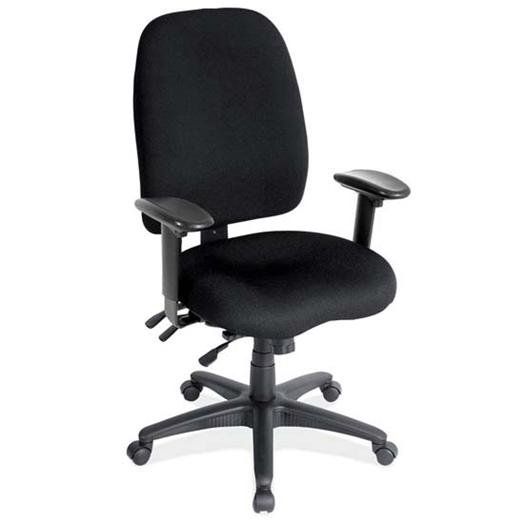 High Back Task Chair with Adjustable Arms and Black Frame