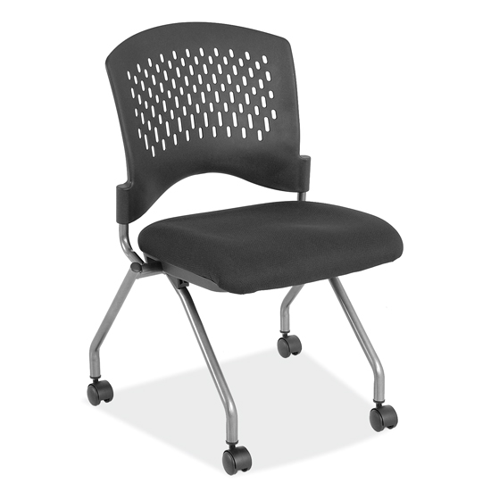 Armless Nesting Chair with Casters – Titanium Gray Frame