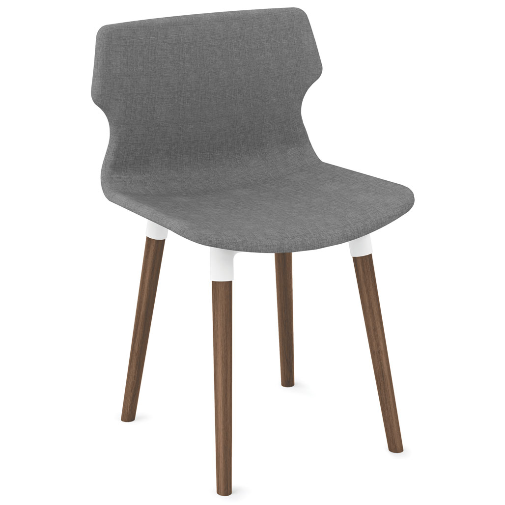 OfficeSource Allure Collection Modern Chair with Light Wood Legs