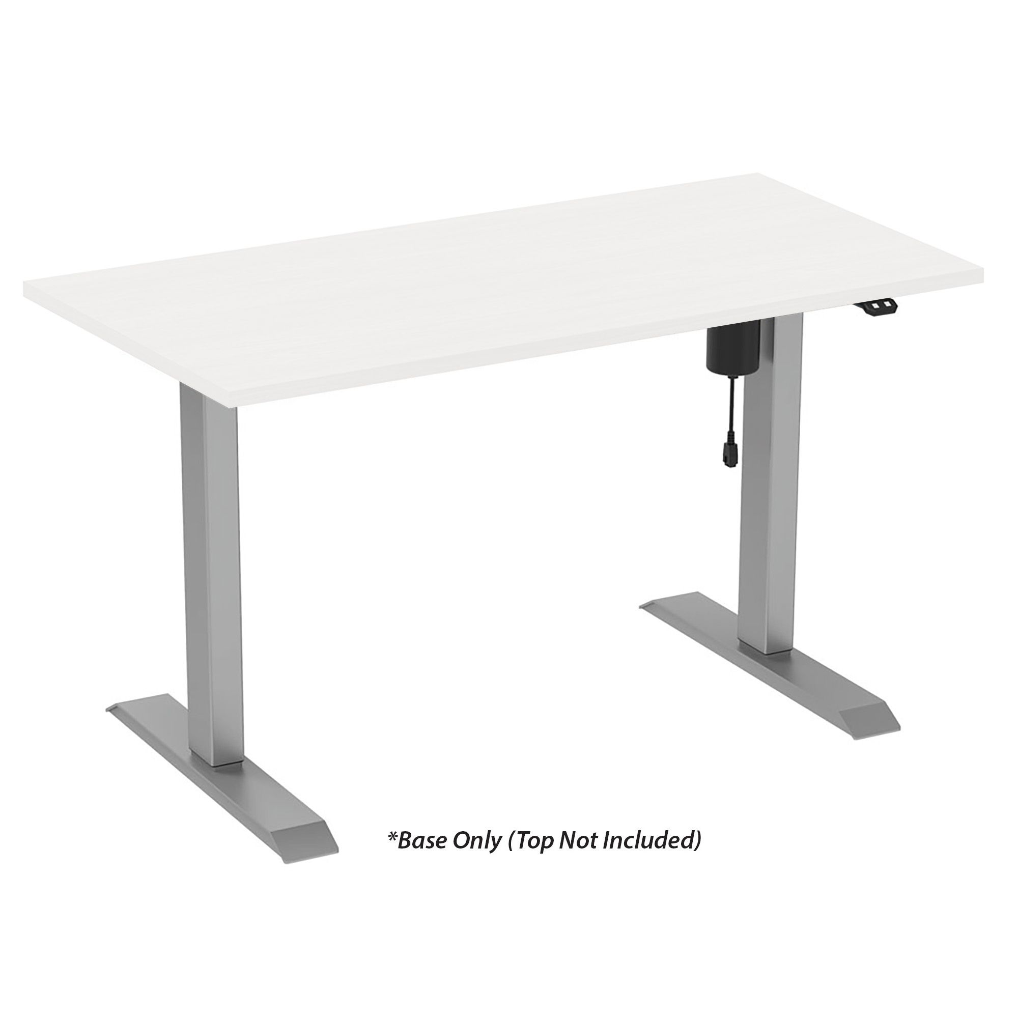 OfficeSource Any Space WFH Collection Height Adjustable Base – 2-Stage, Single Motor