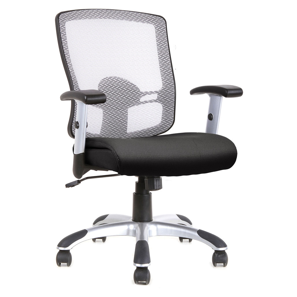 OfficeSource Artesa Collection Mesh, Basic Task Chair with Chrome Base and Arms
