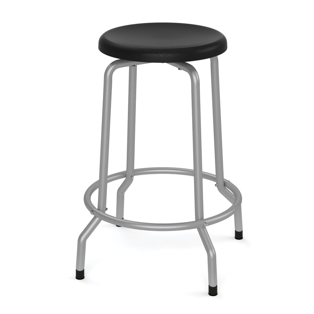 "OfficeSource Bell Collection Stool with Footring – 25-1/4""H"