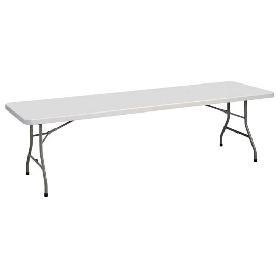Rectangular Plastic Blow-Molded Folding Table