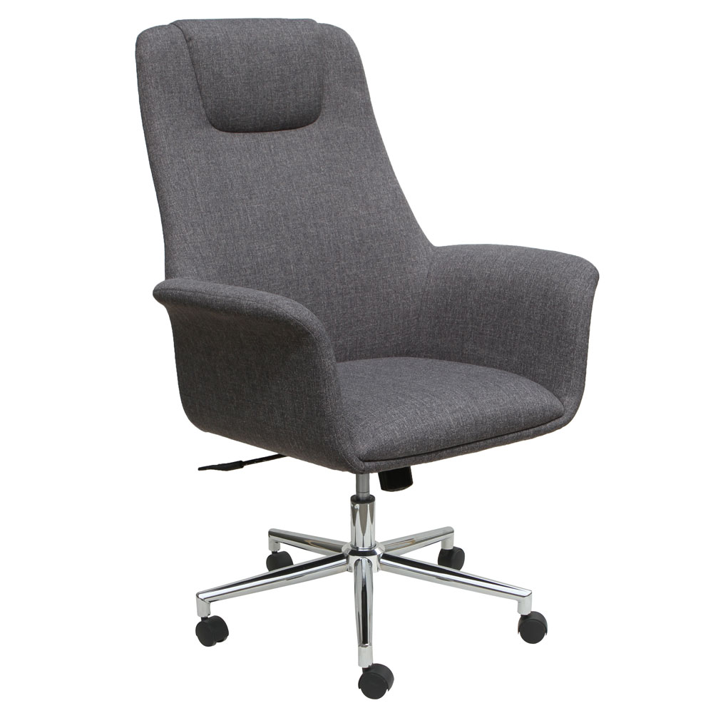 High Back Swivel Chair with 5 Star Chrome Base