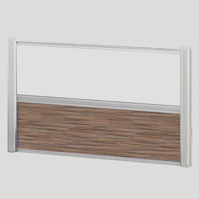 Borders Combination Screens (Acrylic + Fabric) – 60″W x 24″H