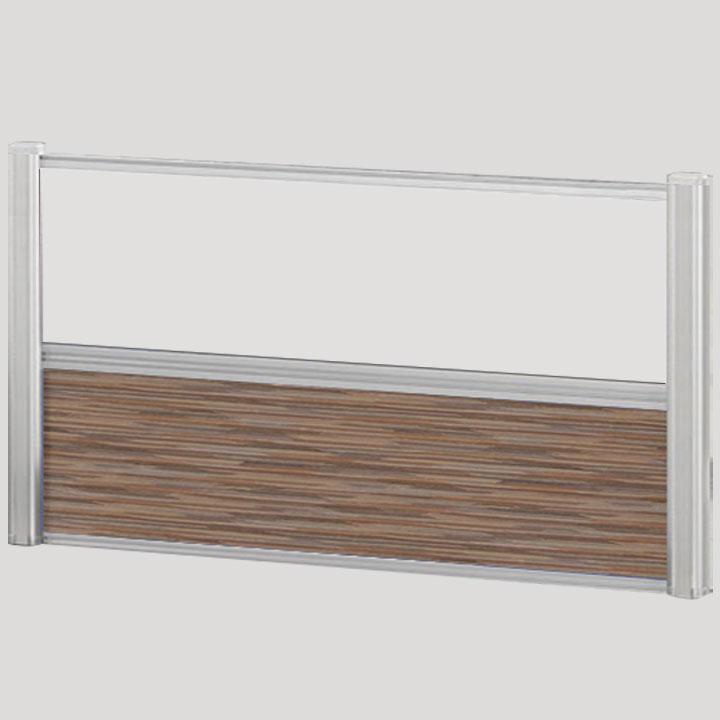 Borders Combination Screens (Acrylic + Fabric) – 66″W x 24″H