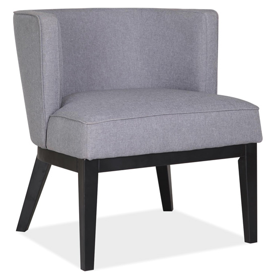 OfficeSource Bowery Collection Barrel Back Arm Chair with Black Wood Legs
