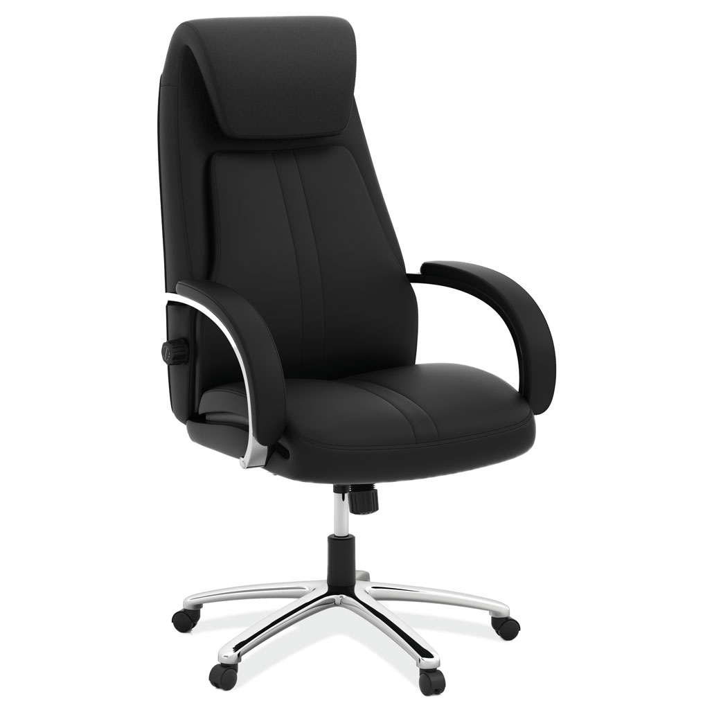 OfficeSource Bradley Collection Executive High Back Chair with Chrome Frame