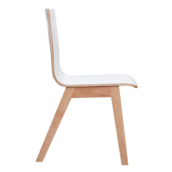 All Wood Guest Chair with Hole in Back and Light Wood Base ...