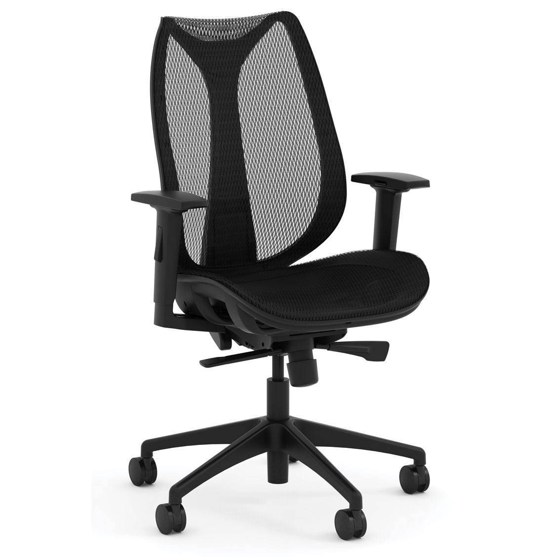 OfficeSource Clever Collection All Mesh High Back Chair with Synchro Tilt