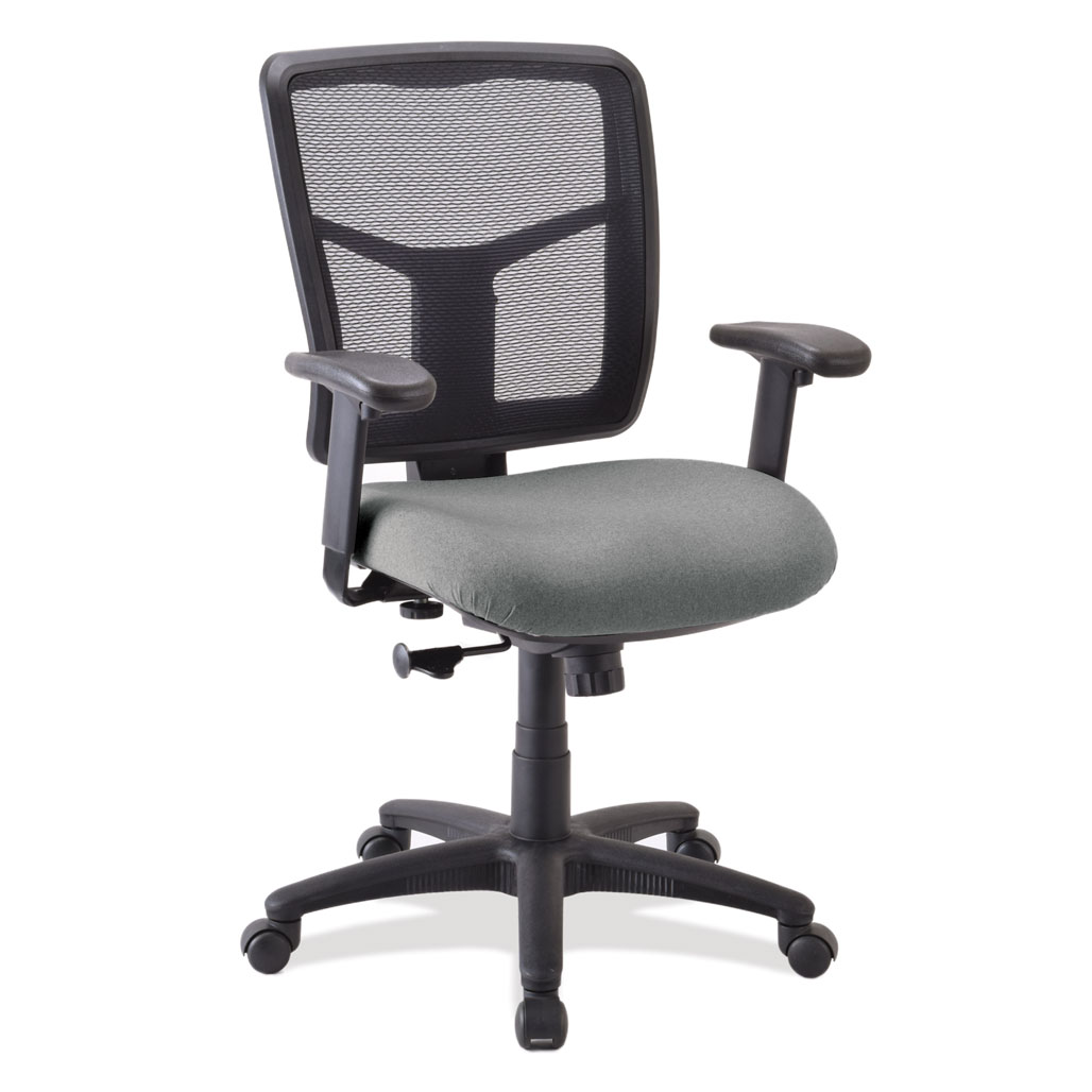 OfficeSource CoolMesh Basic Collection Task Chair with Arms and Black Frame