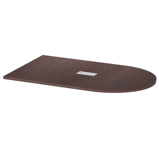 OfficeSource Conference/Multi-Purpose Tables Half Racetrack Conference Table Top – Requires Base