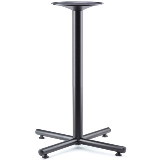 OfficeSource Conference/Multi-Purpose Tables Cafe Height Cross Base – Black