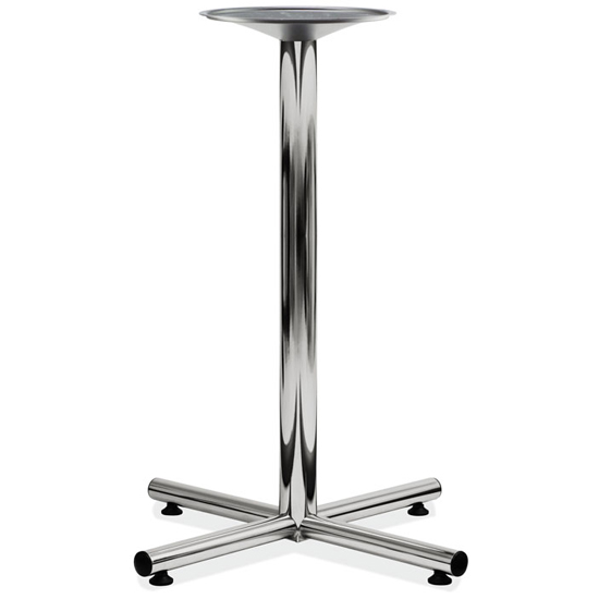 OfficeSource Conference/Multi-Purpose Tables Cafe Height Cross Base – Chrome