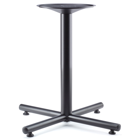 OfficeSource Conference/Multi-Purpose Tables Standard Cross Base – Black