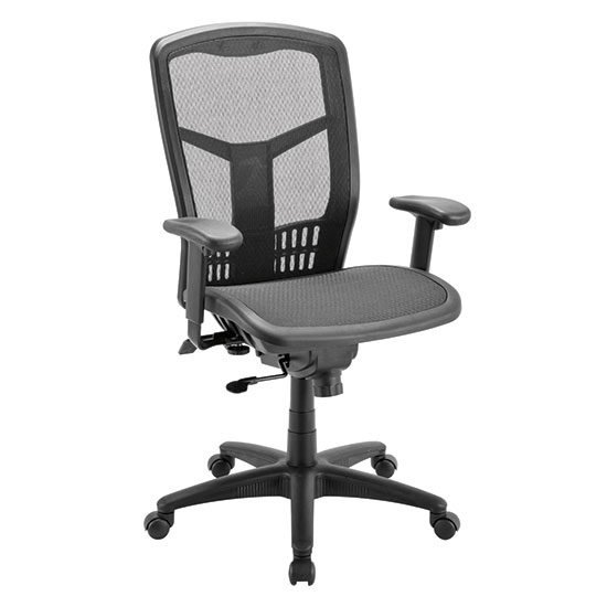 Synchro, High Back Chair with Black Frame