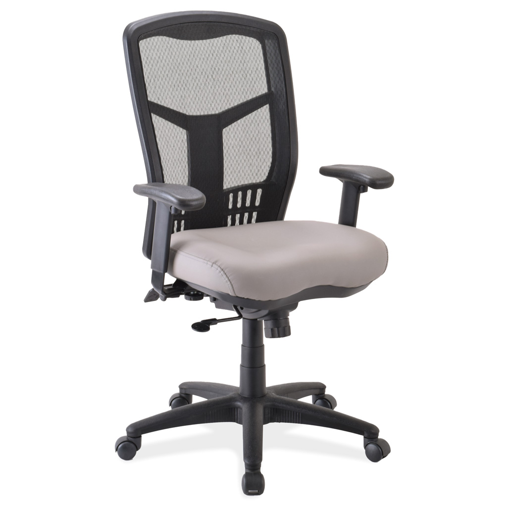 OfficeSource CoolMesh Collection Synchro, High Back Mesh Chair with Seat Slider, Antimicrobial Upholstered Seat and Black Frame