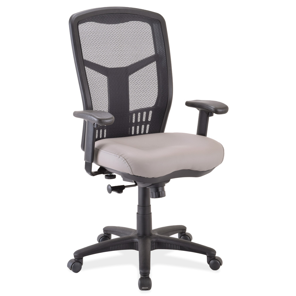 OfficeSource CoolMesh Collection Swivel Tilt, High Back Chair with Black Frame