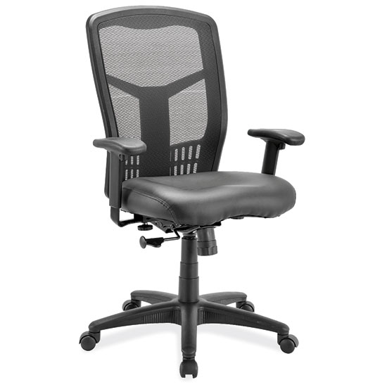 Swivel Tilt, High Back Chair with Black Frame